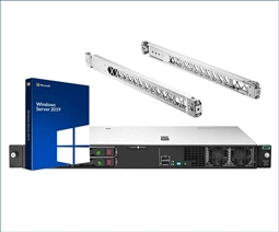 HPE ProLiant DL20 Gen10 Server Bundle with Rail Kit, and Windows Server 2019 from Aventis Systems