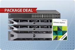 2 R620 Servers, MD3200 Storage, vSphere Essentials, and Cisco SG500-28 Switch Bundle from Aventis Systems, Inc.
