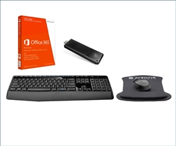 Intel Compute Stick Portable PC Bundle with HDMI, Office 365, Wireless Keyboard, Mouse, and Gel Mousepad from Aventis Systems