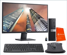 Dell Optiplex 5070 SFF PC Desktop Bundle with Dell 2720HS Monitor, Office 365, WiFi, Keyboard, Mouse, and Mouse Pad from Aventis Systems