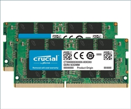 Crucial Memory Bundle with 32GB (2 x 16B) DDR4 2666MHz SODIMM from Aventis Systems
