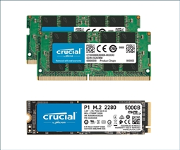 Crucial Memory Bundle with 16GB (2 x 8GB) DDR4 2666MHz SODIMM from Aventis Systems