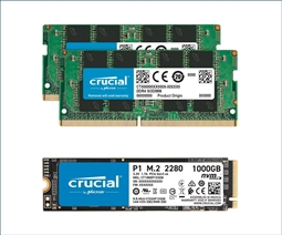 Crucial Memory Bundle with 32GB (2 x 16GB) DDR4 2666MHz SODIMM from Aventis Systems