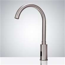 Fontana Wella Goose Neck Commercial Automatic Brushed Nickel Sensor Faucet
