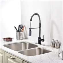 Milan Single Handle Kitchen Faucet with Pull Down Sprayer