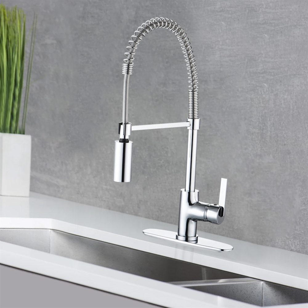 stainless handle steel kraus kpf modern canada spouts dp sink bathtub down single mateo lever pull kitchen amazon faucet