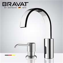 Fontana Commercial Chrome Automatic Sensor Faucet with Manual Soap Dispenser