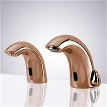 Fontana Rose Gold Commercial Automatic Dual Motion Sensor Bathroom Faucet and Soap Dispenser