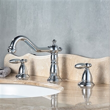 Alessandria Luxury Chrome Deck Mounted Bathroom Sink Faucet