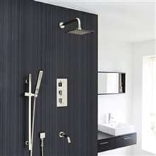 Fontana Liverpool Wall Mount Thermostatic Rainfall Shower Set System