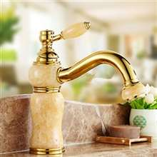 Arsizio Marble Single Handle Gold Mixer Bathroom Sink Faucet
