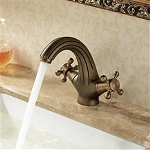 Artemisa Soild Brass Bronze Double Handle Mixer Sink Faucet