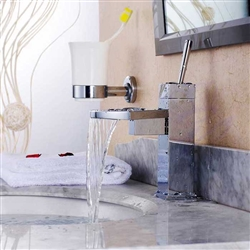 Lenox ContemporaryWaterfall Bathroom Sink Faucet