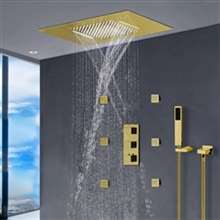 FontanaShowers Recessed Color Changing Water Powered Led Shower with Adjustable Body Jets