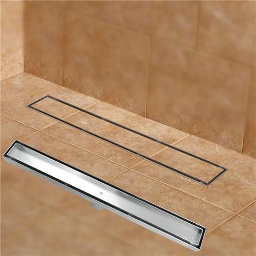 Lenox 304 Stainless Steel 60cm Tile Insert Rectangular Linear Anti