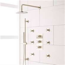 Fontana Lima Brushed Nickel Rainfall Shower System Set
