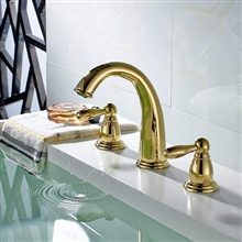 Paris Two Handle Centerset Gold Bathroom Sink Faucet