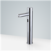 Fontana Tall Commercial Automatic Touch-Free Lavatory Bathroom Sink Sensor Faucet Chrome Finish