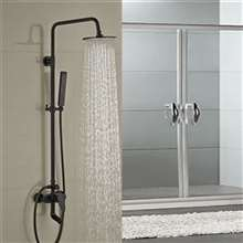 Fontana Milo Round Style Oil Rubbed Bronze Shower Faucet Set W/ Hand Shower Sprayer