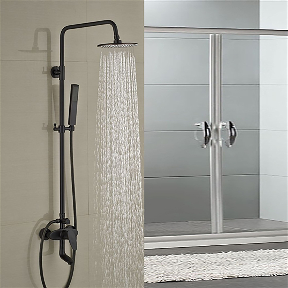 Best Stainless Steel Shower System Sale Fontana Milo Round Style