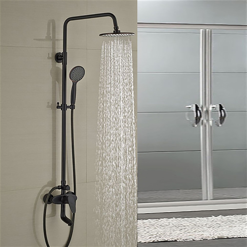 shower and sink faucet sets. Milo Round Style Oil Rubbed Bronze Shower Faucet Set Single Handle Tub  Mixer Tap W Hand Sprayer