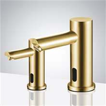 Fontana Brushed Gold Commercial Automatic Dual Touchless Sensor Faucet and Soap Dispenser