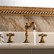 "Modena Widespread 8"" Antique Brass Bathroom Sink Faucet Dual Handle Mixer Faucet"