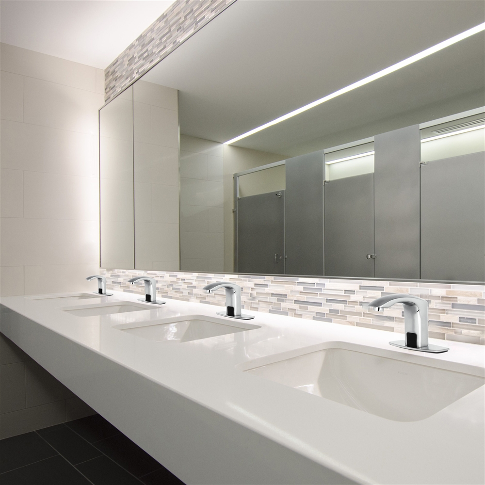 Fontana Automatic Hands Free Faucet D517 Chrome Finish Also Available In Orb Or Gold
