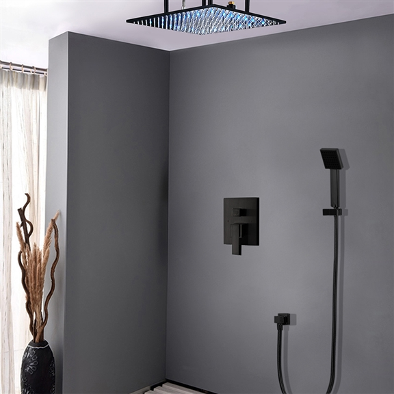 Fontana Oil Rubbed Bronze Square Color Changing LED Rain Shower Head