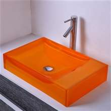 Lima Rectangular Resin Counter Top Sink Colorful Wash Basin