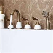 Creative 5PCS Deck Mount BathTub Faucet With Handshower