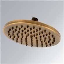 Leonardo Antique Brass Rain Shower Head