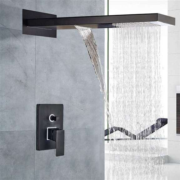 Fiego Oil Rubbed Bronze Shower Set with Dual Control Mixer