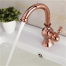 Lima Rose Gold Deck Mount Sink Faucet