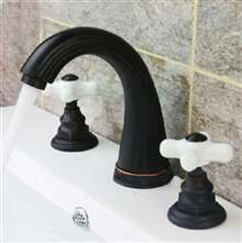 Turin Oil Rubbed Bronze Bathroom Sink Faucet- Dual Ceramic Handle