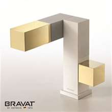Bravat Gold basin mixer brass body air mix technology