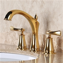 Reno Luxueux 8 Inch Gold Widespread Bathroom Faucet