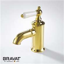 Lübbenau brilliant Gold finish Faucet Brass Body Sink Faucet