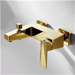 Lubz Gold Finish Wall Mount Bathtub Shower Mixer