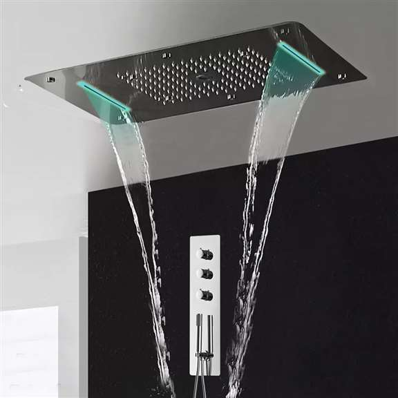 Thermostatic Multi-Function Recessed Showerhead System