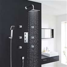 Fontana Kiev Chrome Thermostatic Shower System Set