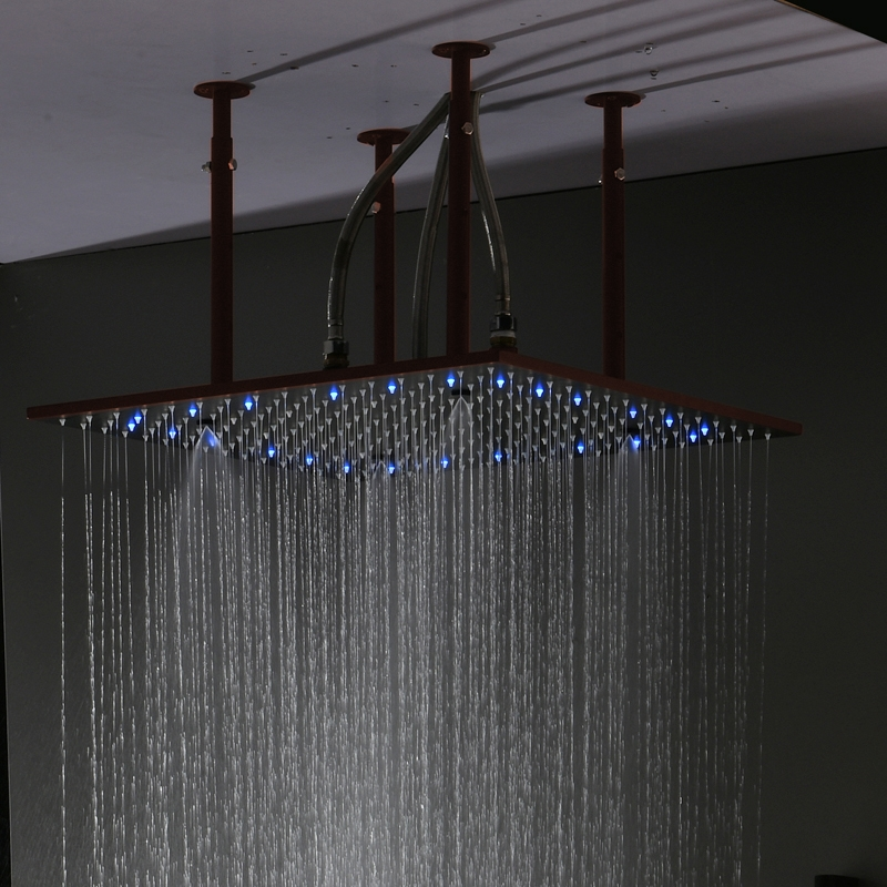 Fontana Sierra Oil Rubbed Bronze Multi Color Led Shower Head With Adjule Body Jets