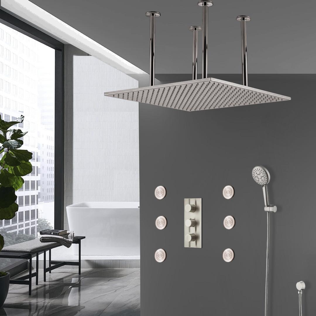 Shop Fontana Sofia Large Ceiling Rain Shower Head Set With Shower