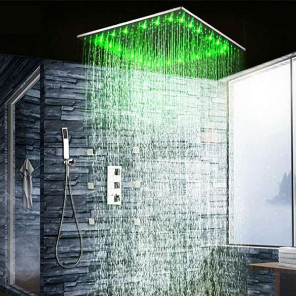 Fontana Rain & Mist Shower Head System With Shower Body Sprays