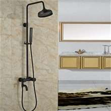 Fontana Vienna Solid Brass Rain Shower Set Single Handle Oil Rubbed Bronze W/ Hand Shower Sprayer