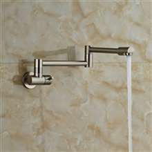 Fontana Brushed Nickel Wall Mount Single Handle Kitchen Faucet