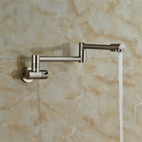 Fontana Faucets Brushed Nickel Wall Mount Bathtub Faucet Single ...