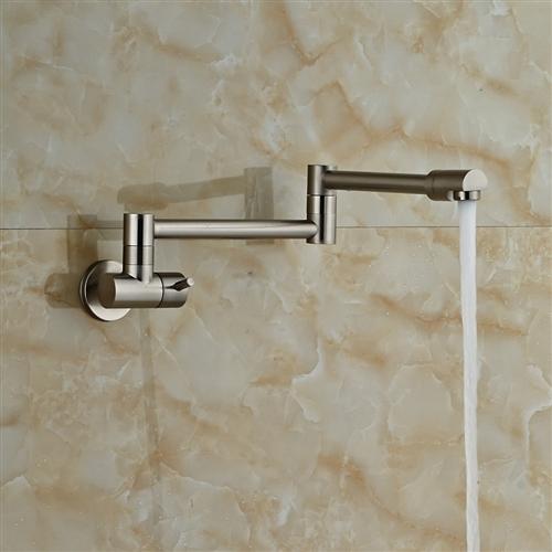 Fontana Faucets Brushed Nickel Wall Mount Bathtub Faucet Single