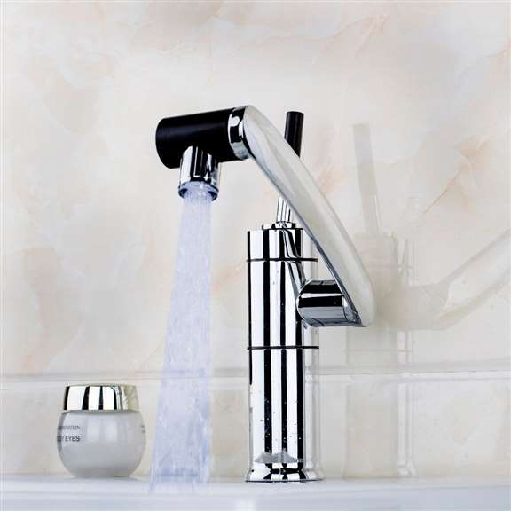 Juno LED Light Swivel Single Handle All Around Rotate Faucet