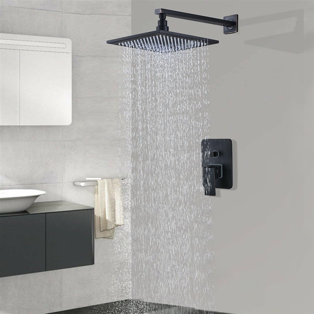 Oil Rubbed Bronze Led Rain Shower Head Fontana Showers